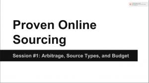 Video 1: Arbitrage, Source Types, Budget