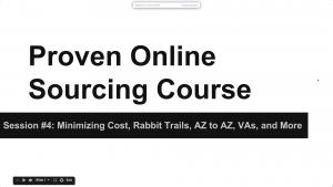 Video 4: Minimizing Cost, Rabbit Trails, & More